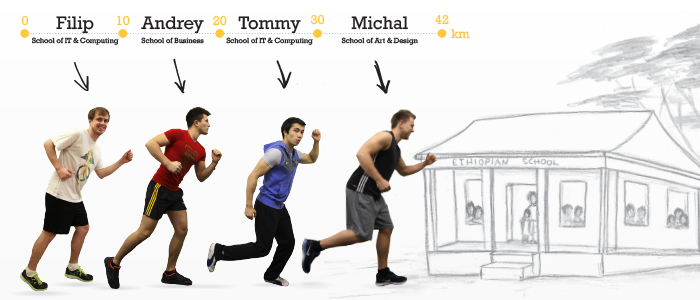 Fantastic Four in charity marathon run