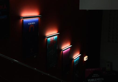 Film poster exhibition at Kino Bio Oko