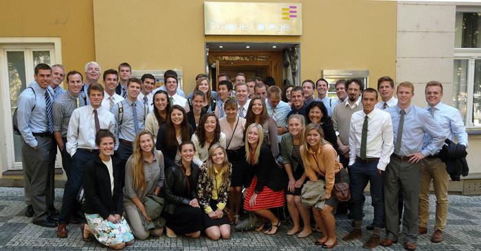 Brigham Young University students visit Prague College