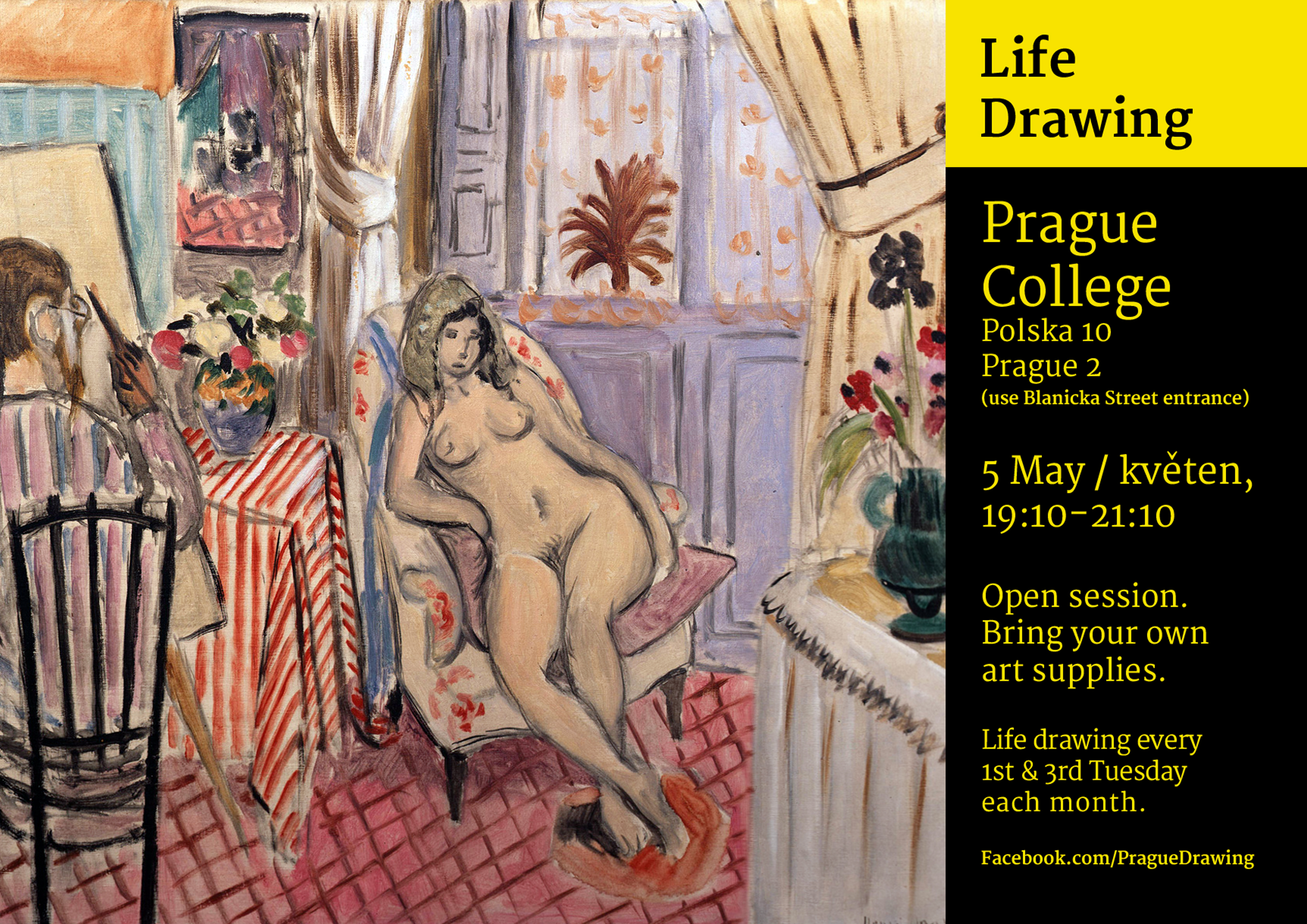 Come along to Life Drawing classes!