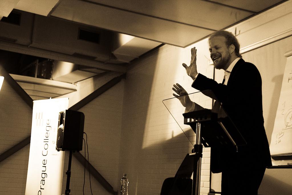 Tomas Sedlacek lectures at Prague College