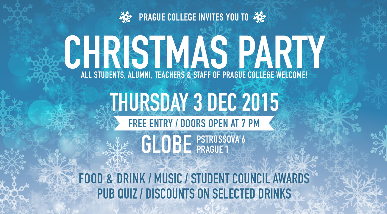 Enjoy a festive end to the year at the Prague College Christmas party and quiz!