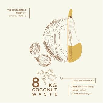 8 kg coconut waste