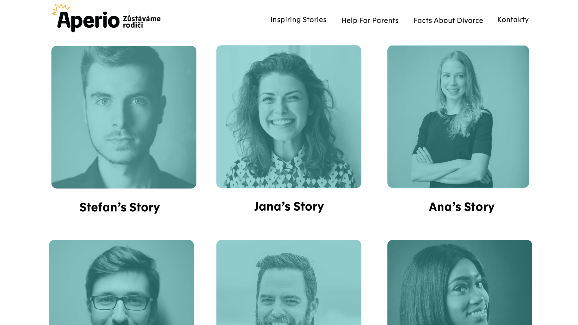 Graphic Design Students develop a live Campaign Website for parent support organisation Aperio