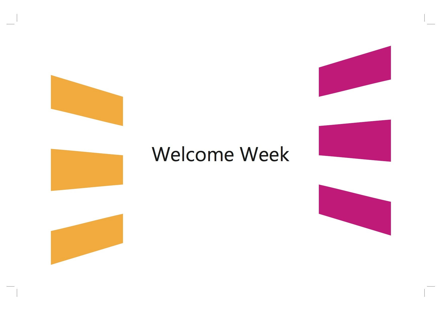 PC002 - Welcome Week 2019Playlist