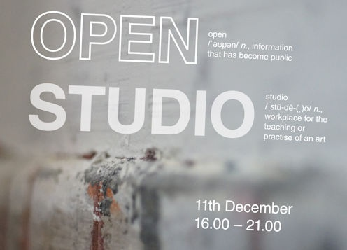 Open Studio - come and see where we work!